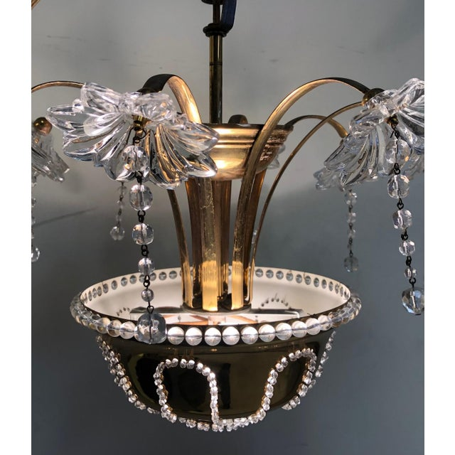 Italian Murano Glass Chandelier For Sale - Image 4 of 6