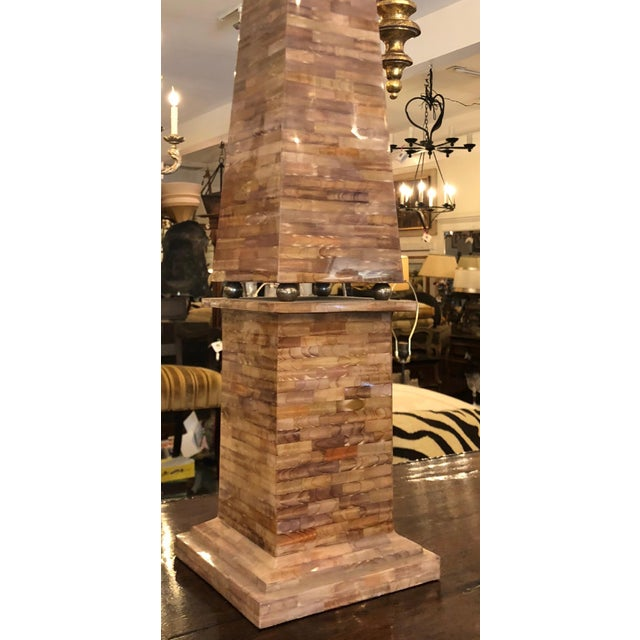 Huge Vintage Designer Trompe l'oeil Obelisk