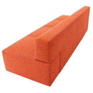 Orange Upholstery Steelcase Sofa Booth For Sale