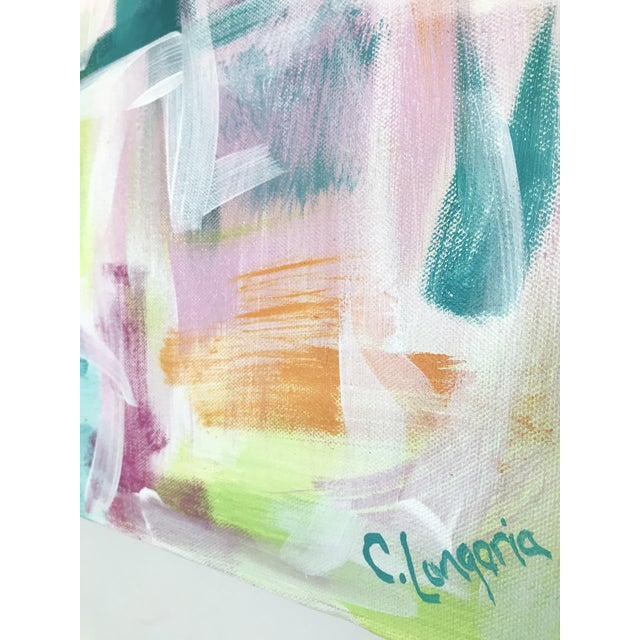 """The original """"Melbourne"""" painting, by abstract artist Christina Le Sesne Longoria, which inspired a best-selling print..."""