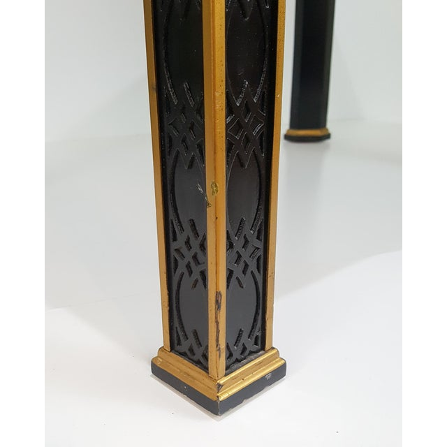 1980s Chinoiserie Drexel Hand-Painted Black Lacquer Side Table For Sale - Image 12 of 13