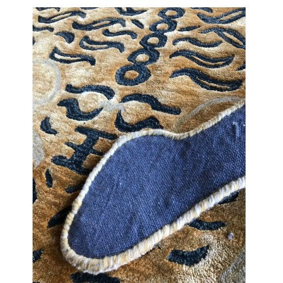 Modern Wool Tibetan Tiger Rug 5' X 7' For Sale - Image 4 of 8