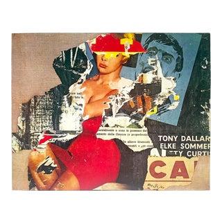 "Mimmo Rotella Rare Vintage 1979 Dumont Art Calendar Lithograph Print Pop Art Poster "" Cinema E Publicita "" 1963 For Sale"