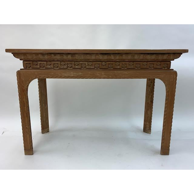 Tan Vintage Italian Carved Console Tables - a Pair For Sale - Image 8 of 11