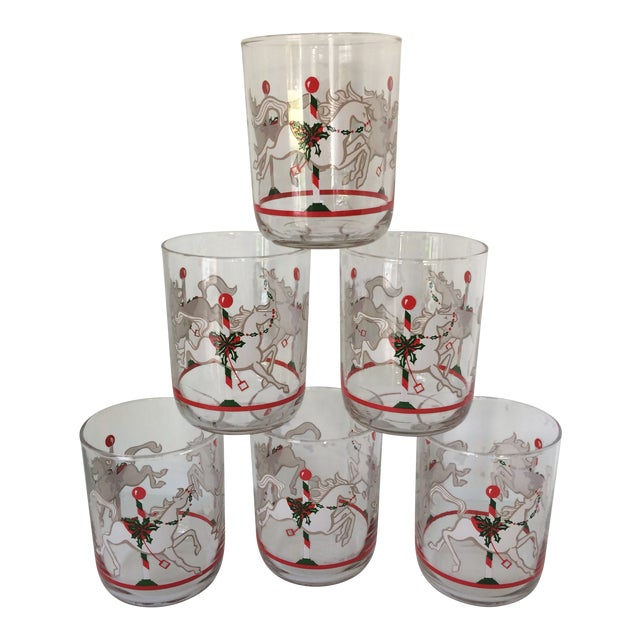 Libbey Merry-Go-Round Glasses - Set of 6 For Sale