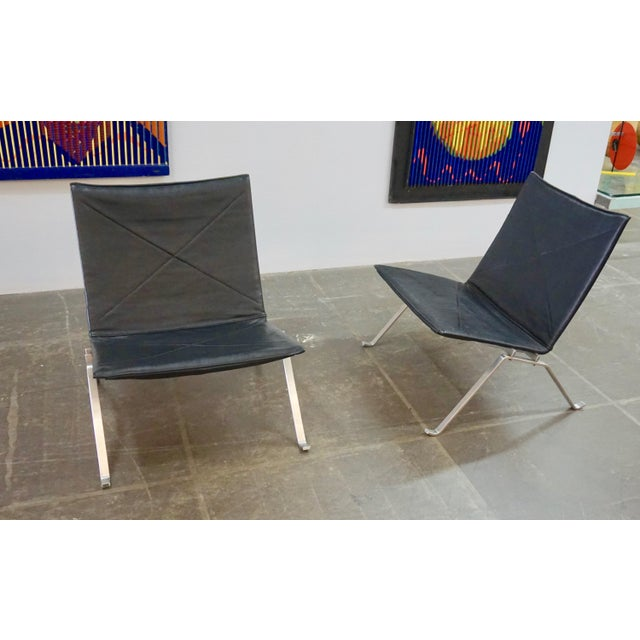 Pk 22 Lounge Chairs by Poul Kjaerholm - a Pair For Sale - Image 10 of 11