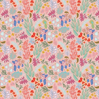 House of Harris Cambridge Fabric, Peach Multi For Sale