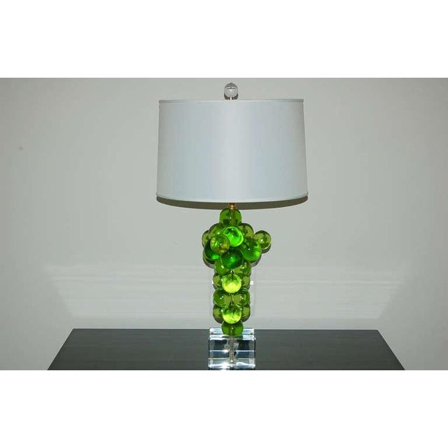 1960s Vintage Bubble Table Lamps Pantani Green For Sale - Image 5 of 10