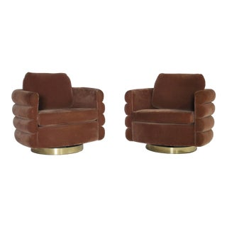 Milo Baughman Thayer Coggin Swivel Chairs For Sale