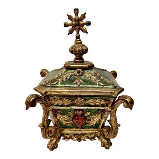Spanish Colonial Gilt Wood Reliquary or Table Box For Sale