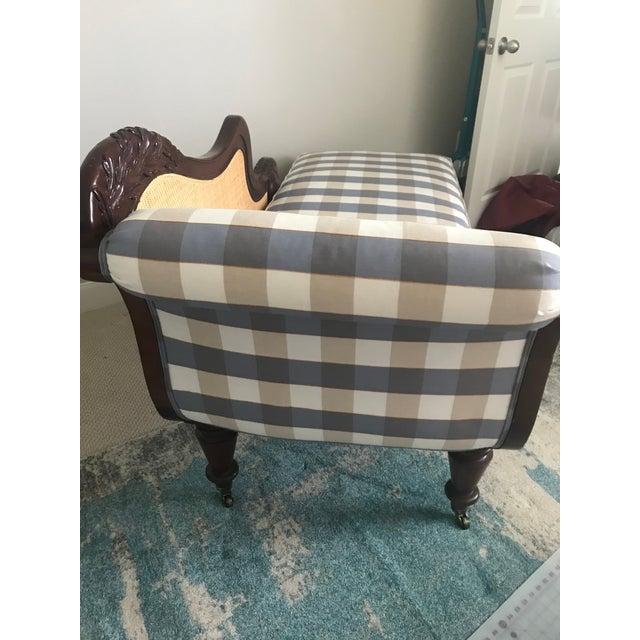 Coastal Henredon Mahogany Chaise Lounge For Sale - Image 3 of 6