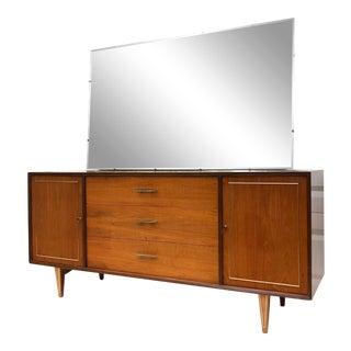 Mid-Century Modern Bedroom Dresser With Mirror