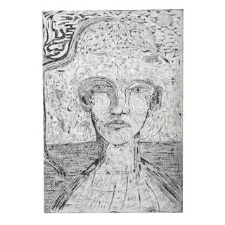 Vintage Intaglio Portrait Print For Sale