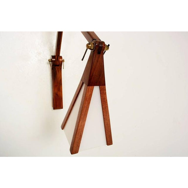Cocobolo & Walnut Wall Sconce For Sale - Image 4 of 10