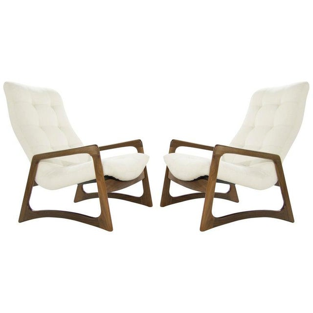 Sculptural Walnut Lounge Chairs by Adrian Pearsall for Craft Associates - a Pair For Sale - Image 13 of 13