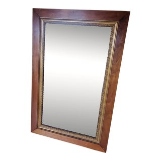 Early 20th Century Wood Frame With Gold Floor Mirror For Sale