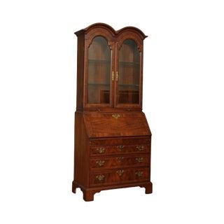 Weiman George III Style Walnut Double Bonnet Top Secretary Desk For Sale