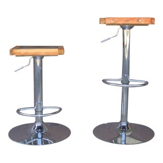 1990s Vintage Contemporary Barstools - a Pair For Sale
