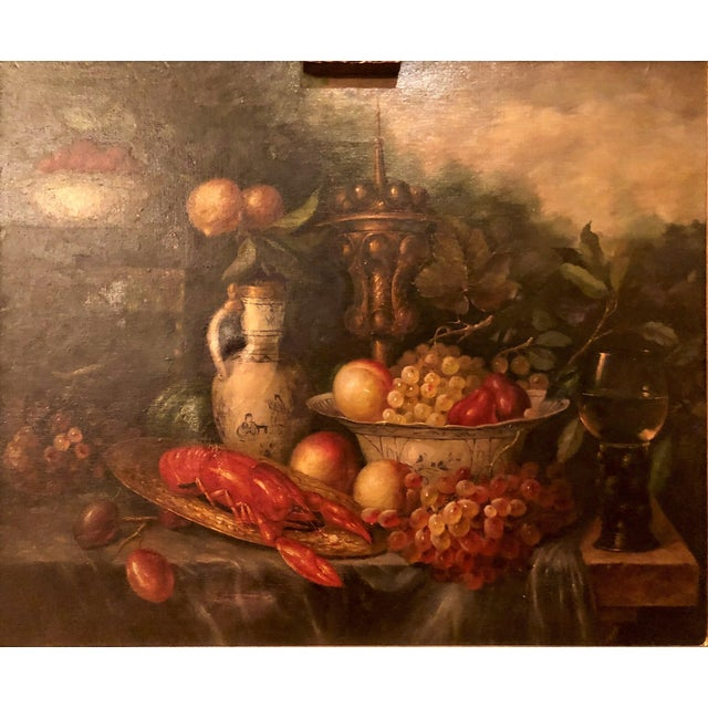 Traditional Antique French Still Life Painting in Panel, Circa 1870-1890. For Sale - Image 3 of 6