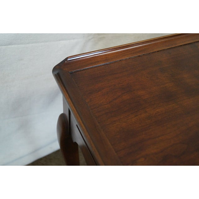 Statton Old Towne Solid Cherry Queen Anne Table - Image 7 of 10