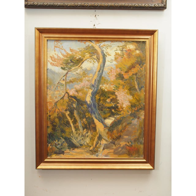 Oil Paint Impressionist Landscape Painting, Signed Ch. Andreani For Sale - Image 7 of 7