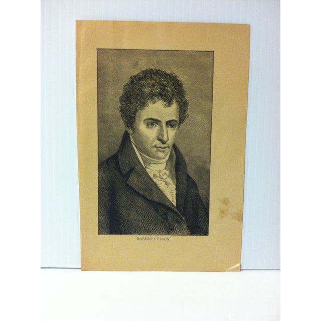 """This is an Antique Print on Paper that presents a Successful Self-Made Man and is titled """"Robert Fulton"""". The Print was..."""
