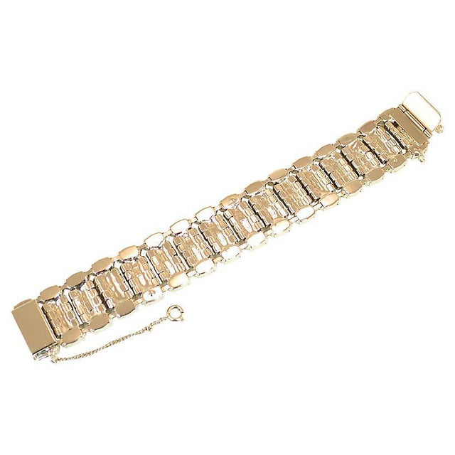 Weiss Segmented Crystal Bracelet, 1950s For Sale In Los Angeles - Image 6 of 7