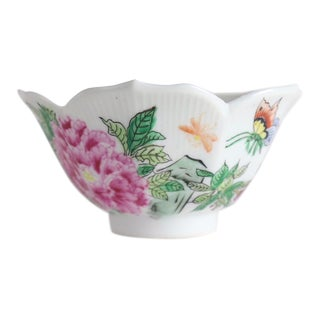 Chinese Lotus Leaf Porcelain Bowl For Sale