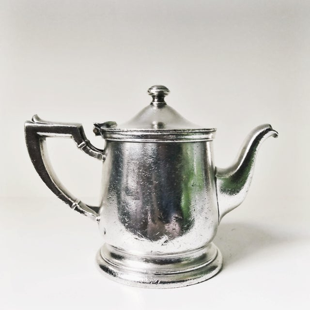 1940s 1947 Silver Plate Teapot From the Mayflower Washington DC For Sale - Image 5 of 7