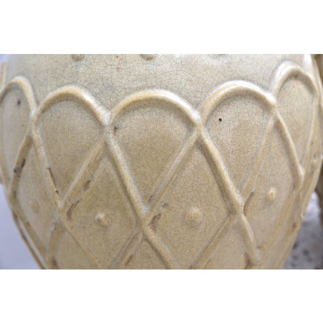 Early 20th Century American Art Deco Glazed Pottery Urns Planters Cache Pot by Galloway - a Pair For Sale - Image 5 of 10