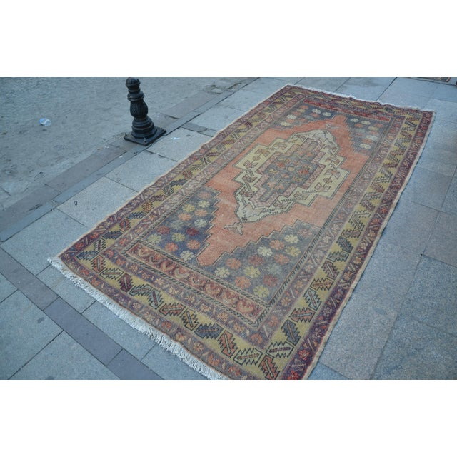 Turkish Tribal Floor Rug - 4′9″ × 8′10″ - Image 3 of 6