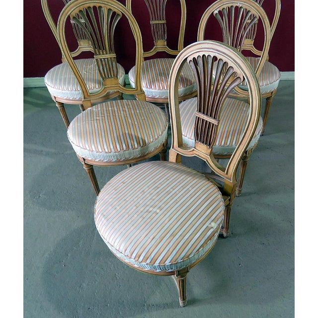 Louis XV Louis XV Style Dining Side Chairs - Set of 6 For Sale - Image 3 of 10