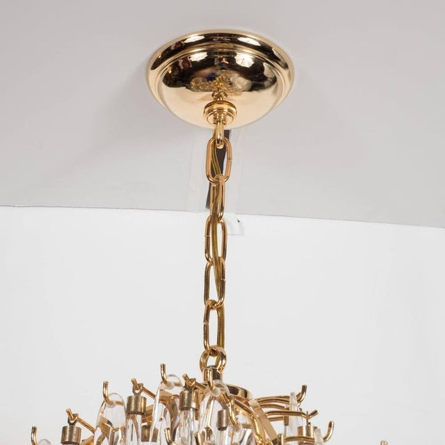 Mid-Century Modern Mid-Century Draped Design Chandelier by Lobmeyr, 24-Karat Gold-Plated Fittings For Sale - Image 3 of 10