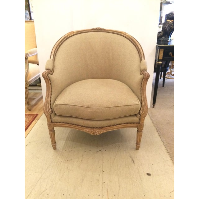 Louis Xv Style Antique French Bergere Club Chair Chairish