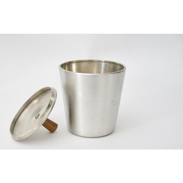 Modern Pewter and Mahogany Coffee and Tea Service by KMD Royal Holland - 5 Pc. Set For Sale In West Palm - Image 6 of 13