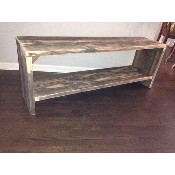 Custom Rustic Wood Bench - Image 4 of 7