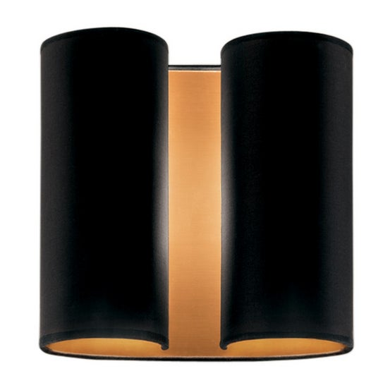 Brushed Copper Wall Sconce With Satin Black For Sale - Image 4 of 4