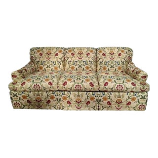 Portuguese Tapestry Upholstered Willis Sofa For Sale