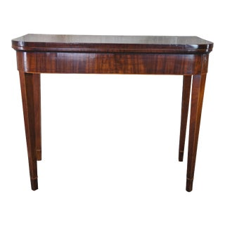 Early 19th Century Mahogany Inlaid Game Table Entryway Console For Sale