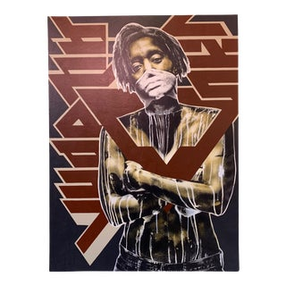 Early 21st Century Painting on Wood by Eddie Colla For Sale