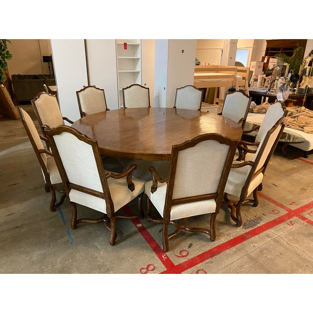 Michael Taylor Table + Set of 10 Custom Design Chairs Dining Set For Sale - Image 13 of 13