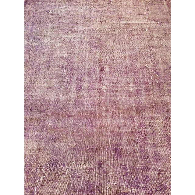 Vintage Turkish Anatolian overdyed hand knotted rug with natural colors and fine weave.