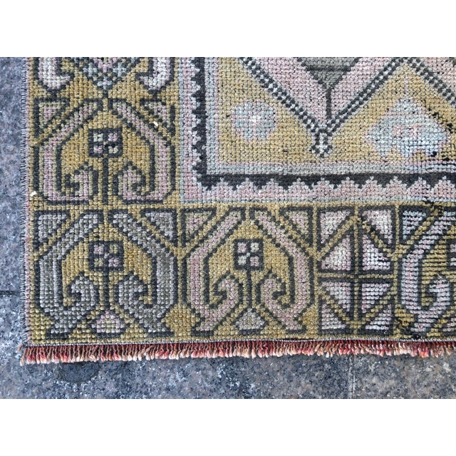 Turkish Oushak Pastel Handwoven Floor Rug - 3′1″ × 5′10″ For Sale - Image 10 of 11