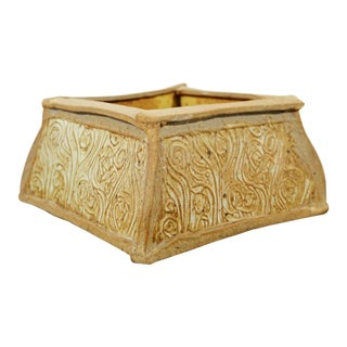 Mid Century Modern John Glick Signed Handmade Pottery Ceramic Art Box 1960s For Sale