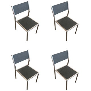 """Aluminum """"Ozon"""" Side Chairs by Royal Botania, Set of Four For Sale"""