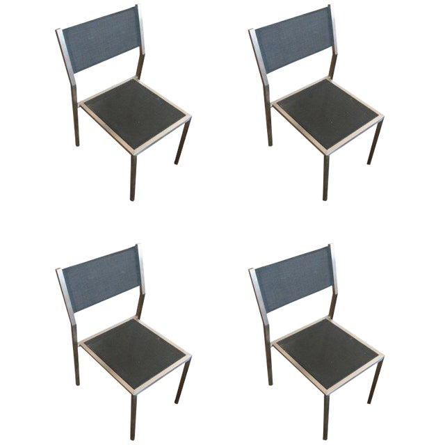 "Aluminum ""Ozon"" Side Chairs by Royal Botania, Set of Four - Image 1 of 3"