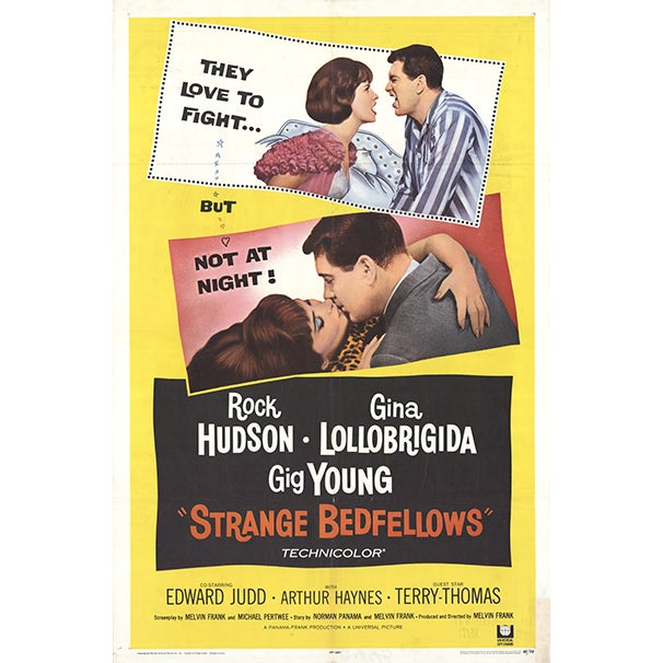 1965 Strange Bedfellows Movie Poster For Sale