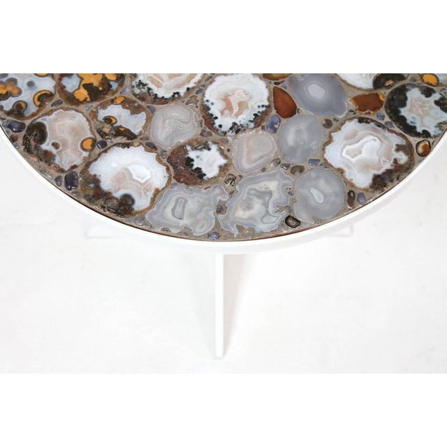 Acrylic Miriam Rogers Mosaic and Acrylic Table For Sale - Image 7 of 11