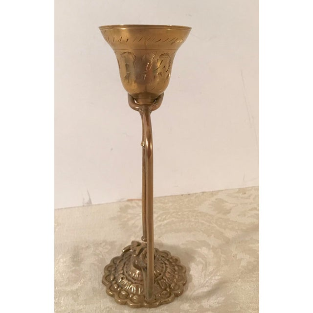 Vintage Brass Bell on Stand For Sale - Image 4 of 8