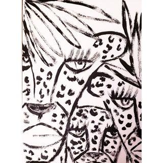 Cheetah Ink Sketch By Kendra Dandy For Sale
